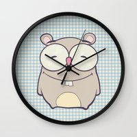 hamster Wall Clocks featuring Hamster by Mr and Mrs Quirynen