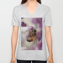 Worker Bee on Mexican Sage Unisex V-Neck