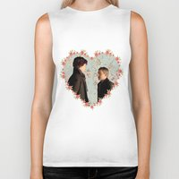 johnlock Biker Tanks featuring Hearted Johnlock by thescudders