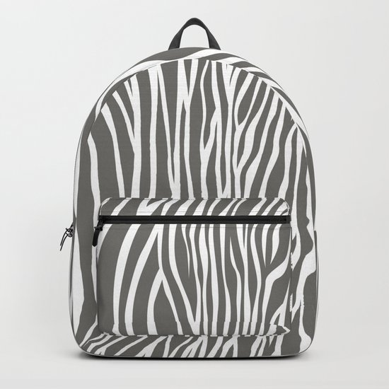 Safari Zebra Print - Grey & White Backpack