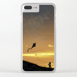 Kite-Flying at Sunset Clear iPhone Case