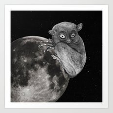 The Tarsius Who Reached His Light Source Art Print
