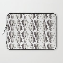 Badminton Shuttlecocks Pencil Drawing Laptop Sleeve