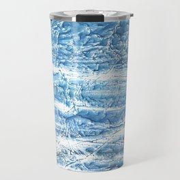 Steel blue nebulous watercolor texture Travel Mug