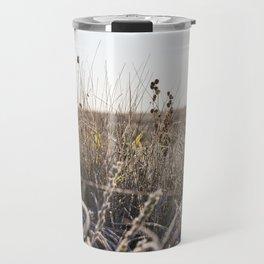 frozen dry grass close up Travel Mug