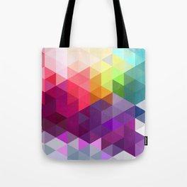 Pixel Prism Tote Bag