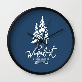 winterlust Wall Clock