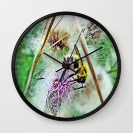 """Bee"" Content Wall Clock"