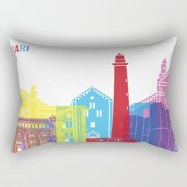 Bari skyline pop Rectangular Pillow