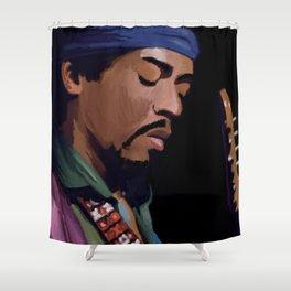 Jimmi Hendrix Shower Curtain