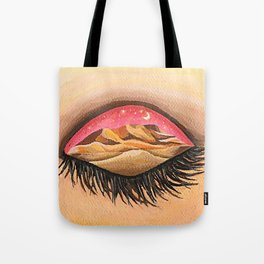 Pink sky invites you to the real world Tote Bag