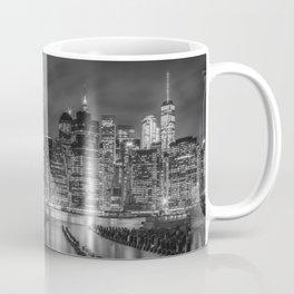 NEW YORK CITY Monochrome Night Impressions   slim panoramic Coffee Mug