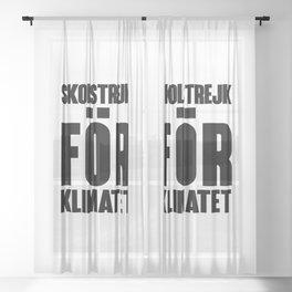 SKOLSTREJK FOR KLIMATET Sheer Curtain