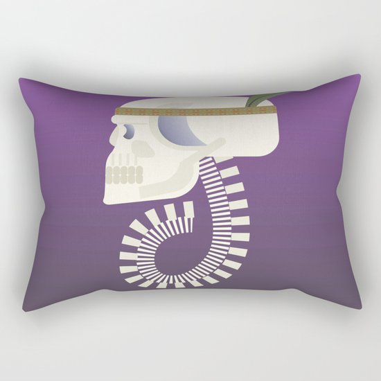 Indie G skull Rectangular Pillow