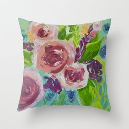 Vivid & Sassy Throw Pillow