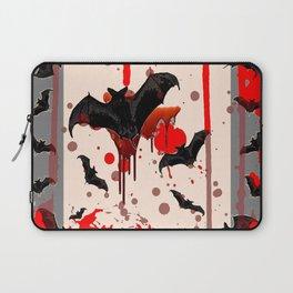 FLYING VAMPIRE BLACK BATS & HALLOWEEN BLOODY ART Laptop Sleeve