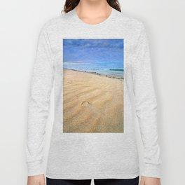 """""""Levante wind """" Magic Tarifa beach at sunrise Long Sleeve T-shirt"""