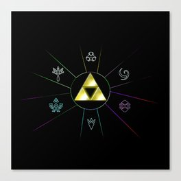 ZELDA TRIFORCE SYMBOL Canvas Print