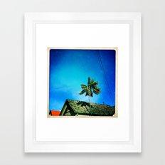 palm tree and sky Framed Art Print