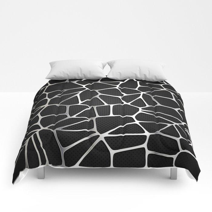 Cracked metal Comforters