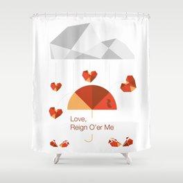 Love reign White Shower Curtain