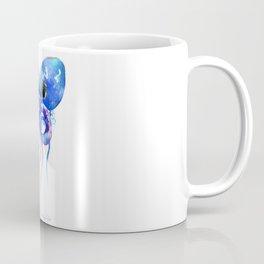 Octopus, blue purple marine colors beach house octopus artwork Coffee Mug