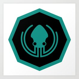 gitkraken developer github occult sigil of the gateway octopus satanism programmer Art Print