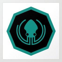 gitkraken developer github occult sigil of the gateway octopus satanism programmer Art Print