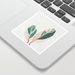 Pink Leaves I Sticker