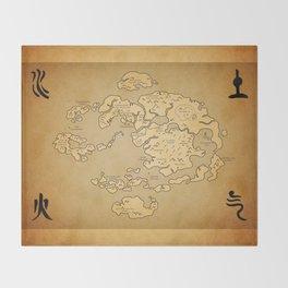 Avatar Last Airbender Map Throw Blanket