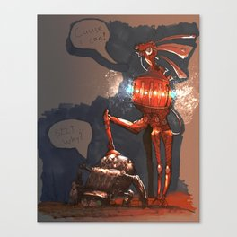 Bzzt Why? Canvas Print