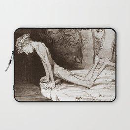 """Honoré Daumier """"Le beau Narcisse"""" Laptop Sleeve"""