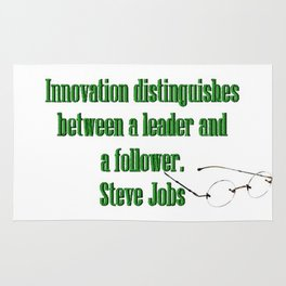 Innovation is the difference between a leader and a follower. Steve Jobs Rug