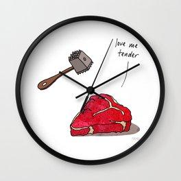 Love Me Tender Wall Clock