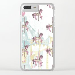 CAROUSEL Pop Art Clear iPhone Case