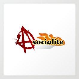 asocialite Art Print