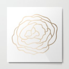 Flower in White Gold Sands Metal Print
