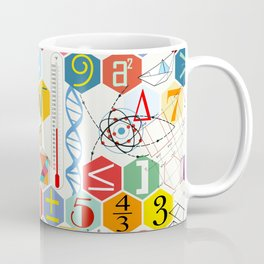 Math in color (white Background) Coffee Mug