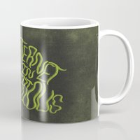 internet Mugs featuring MYSTERIOUS INTERNET by Josh LaFayette