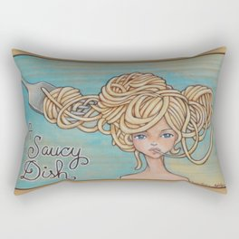 A Saucy Dish Rectangular Pillow