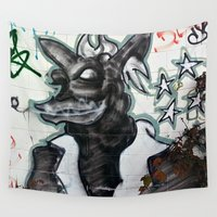 beast Wall Tapestries featuring Beast  by Ethna Gillespie