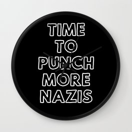 Punch More Nazis Wall Clock