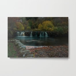 Yorkshire Dales Waterfall. Metal Print
