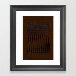 2012 Moon Phases Framed Art Print
