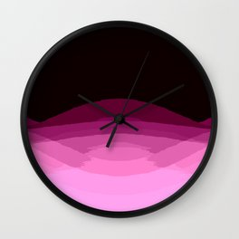 Mauve Magenta Burgundy Digital Ombre Gradient Wall Clock