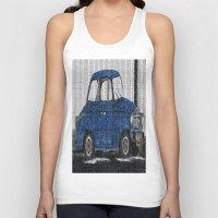 cuba Tank Tops featuring Cuba Car by Sartoris ART