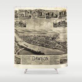 Aerial View of Dawson, Pennsylvania by T.M. Fowler (1902) Shower Curtain