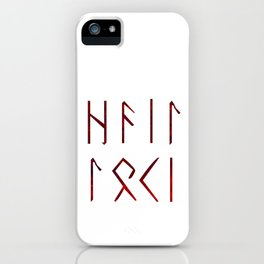 Hail Loki - Runes iPhone Case