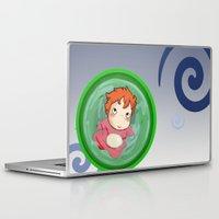 ponyo Laptop & iPad Skins featuring Ponyo  by SamIAmTheSam