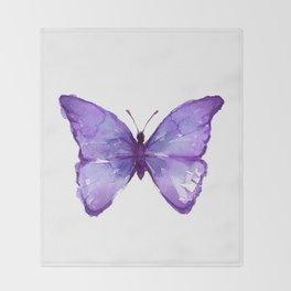 Purple Butterfly Throw Blanket